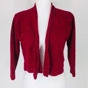 Eileen Fisher Italian Yarn Wool Cardigan Sweater